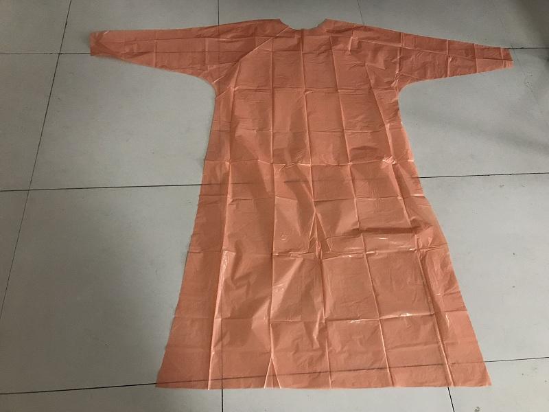 橙色 - PE GOWN