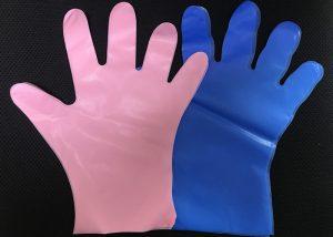 BLUE CPE GLOVE MANUFACTURE 300x214 - CPE GLOVE