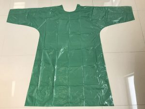 DISPOSABLE GREEN POLY GOWN 300x225 - DISPOSABLE GREEN POLY GOWN