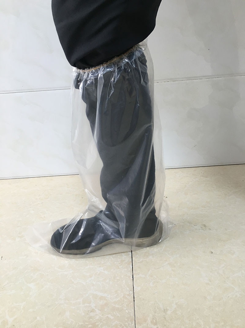 ELASTIC BAND BOOTS - Disposable plastic boot