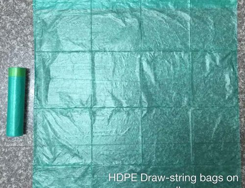 pe draw-string bags on roll