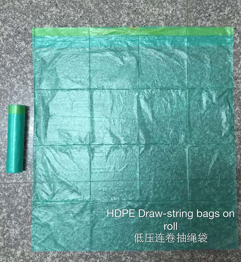 PE DRAW STRING BAG ON ROLL - pe draw-string bags on roll