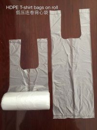 PR T SHIRT BAGS ON ROLL - hdpe t shirt bags on roll