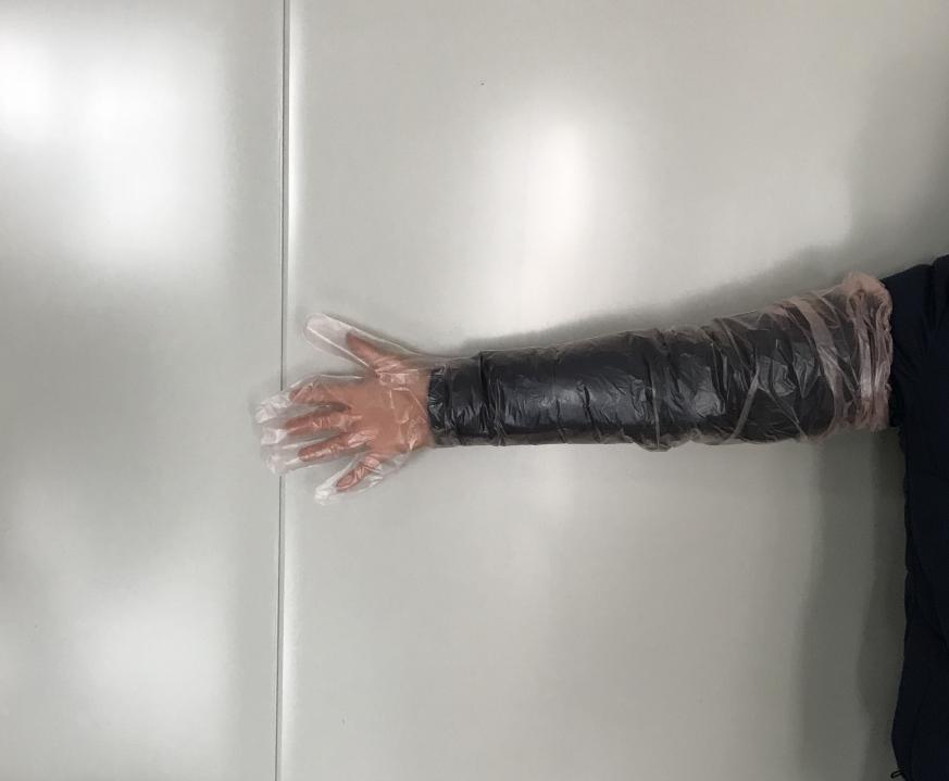皮筋长手1 - Elasticated poly long glove